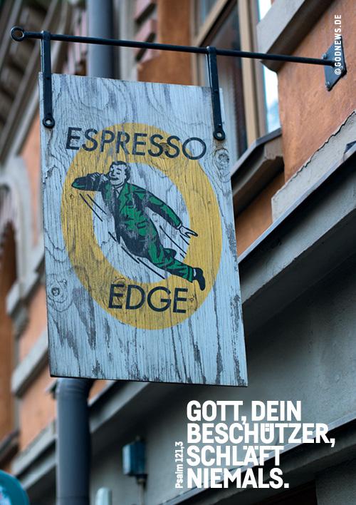 Goodies, Anwesend, Bibel, Espresso, Freiheit, Hellwach, on air, Psalm, Schild